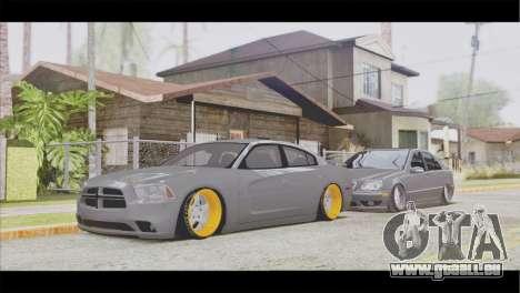 Dodge Charger SRT8 pour GTA San Andreas vue arrière