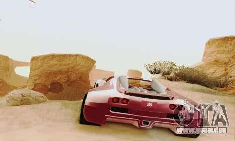 Bugatti Veyron 16.4 Concept für GTA San Andreas Rückansicht