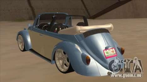 VW Beetle 1969 pour GTA San Andreas vue arrière