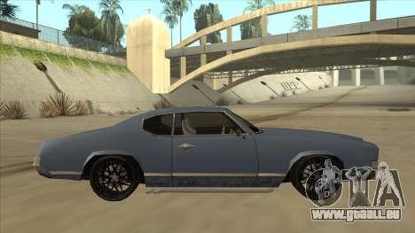 Tuned Sabre für GTA San Andreas zurück linke Ansicht