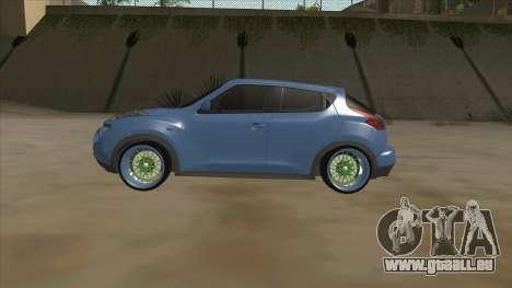 Nissan Juke Lowrider pour GTA San Andreas sur la vue arrière gauche