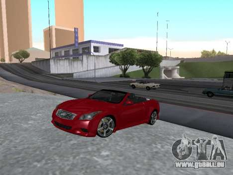Infinity G37 S Cabriolet pour GTA San Andreas