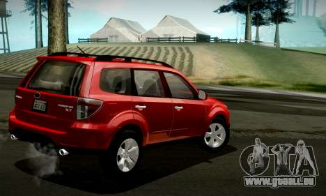 Subaru Forester XT 2008 v2.0 pour GTA San Andreas vue de dessus