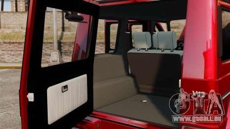 Mercedes-Benz G500 für GTA 4 Innenansicht