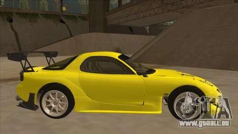 Mazda RX7 FD3S RE Amemyia Touge Style pour GTA San Andreas sur la vue arrière gauche