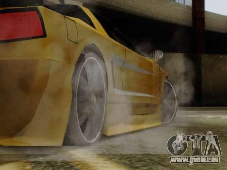 Infernus DoTeX pour GTA San Andreas vue de droite