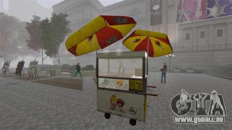 Les kiosques mis à niveau et des charrettes de d pour GTA 4 huitième écran