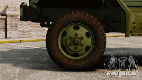 Base militaire camion AM général M35A2 1950 pour GTA 4 est une vue de l'intérieur