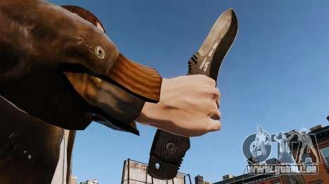 Couteau tactique v1 pour GTA 4 troisième écran