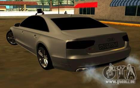 Audi S8 für GTA San Andreas zurück linke Ansicht