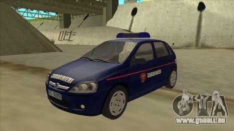 Opel Corsa 2005 Carabinieri für GTA San Andreas