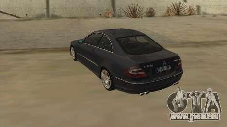 Mercedes-Benz CLK55 AMG 2003 pour GTA San Andreas vue de droite