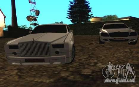 Rolls-Royce Phantom v2.0 pour GTA San Andreas sur la vue arrière gauche