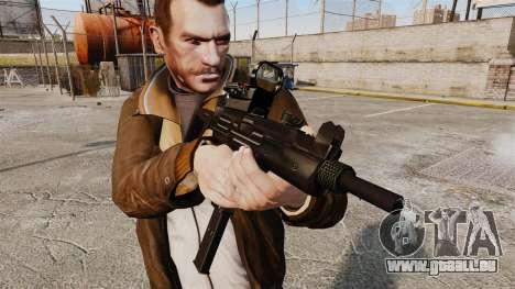 Taktische Uzi-v4 für GTA 4 dritte Screenshot
