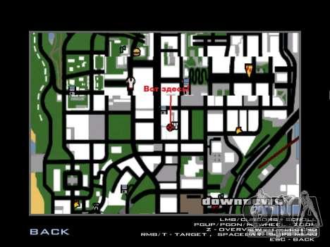 Training Vusi für GTA San Andreas fünften Screenshot