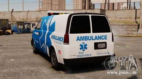 Ambulance LCEMS Speedo pour GTA 4 Vue arrière de la gauche