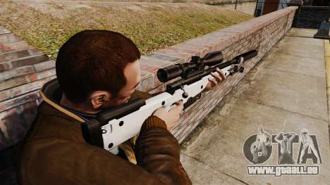 Fusil de sniper AW L115A1 avec un silencieux v1 pour GTA 4 secondes d'écran