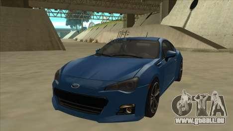 Subaru BRZ 2013 Tunable pour GTA San Andreas