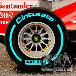 Ferrari F138 2013 v1 pour GTA 4 est une vue de l'intérieur