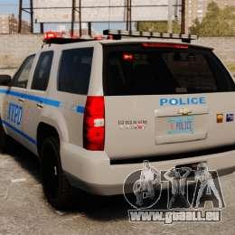 Chevrolet Tahoe 2007 NYPD [ELS] pour GTA 4 Vue arrière de la gauche