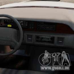 Chevrolet Caprice 1991 [ELS] v1 pour GTA 4 est une vue de l'intérieur