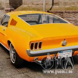 Ford Mustang 1967 Classic für GTA 4 hinten links Ansicht