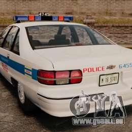 Chevrolet Caprice 1991 [ELS] v1 für GTA 4 hinten links Ansicht
