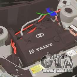 Vaz-2170 Priora pour GTA 4 est une vue de l'intérieur