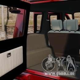 Mercedes-Benz G500 pour GTA 4 est une vue de l'intérieur