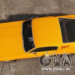 Ford Mustang 1967 Classic pour GTA 4 est un droit