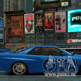 Nissan Skyline GTR-34 pour GTA 4 Vue arrière de la gauche