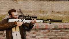 Fusil de sniper AW L115A1 avec un silencieux v1