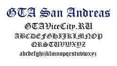 Die offizielle Schrift für GTA San Andreas