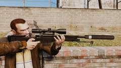 Fusil de sniper AW L115A1 avec un silencieux v4