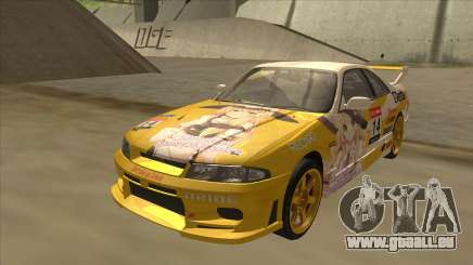 Nissan Skyline R33 Itasha für GTA San Andreas