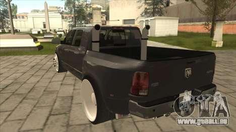 Dodge Ram Laramie Low für GTA San Andreas Rückansicht