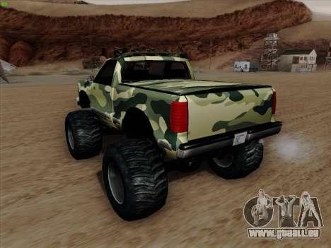 Camouflage pour Monster pour GTA San Andreas vue de dessous