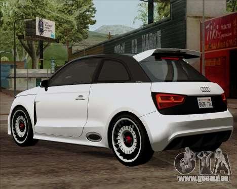 Audi A1 Clubsport Quattro pour GTA San Andreas laissé vue