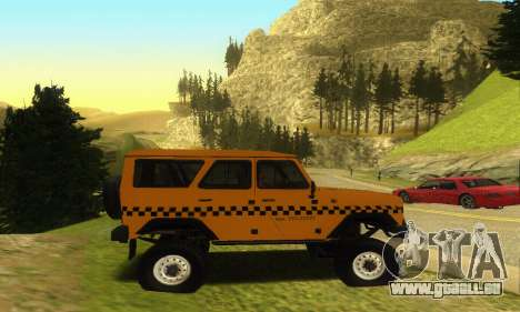 UAZ Hunter Taxi pour GTA San Andreas vue intérieure