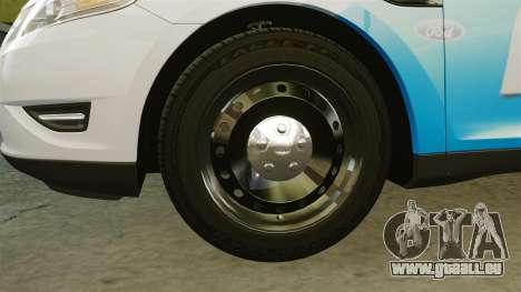 Ford Taurus 2010 Police Interceptor Detroit für GTA 4 Rückansicht