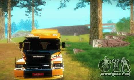 TopLine Scania 113 h 360 pour GTA San Andreas vue arrière