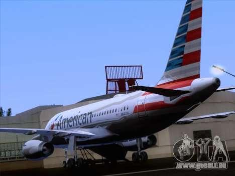 Airbus A319-112 American Airlines pour GTA San Andreas vue de dessous