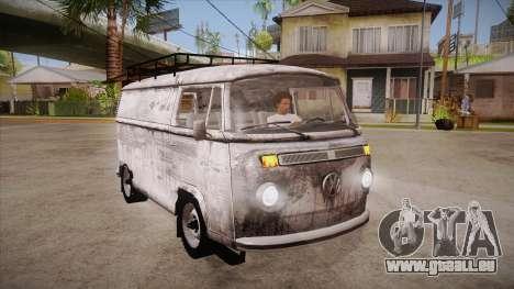 Volkswagen Transporter T2 Custom für GTA San Andreas Rückansicht
