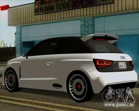 Audi A1 Clubsport Quattro pour GTA San Andreas sur la vue arrière gauche