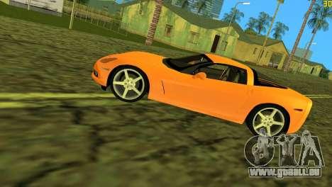 Chevrolet Corvette C6 pour GTA Vice City vue latérale