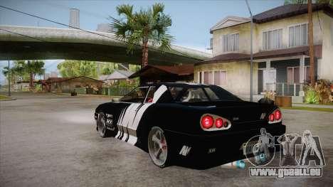 Elegy Touge Tune pour GTA San Andreas sur la vue arrière gauche