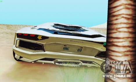 Lamborghini Aventador LP700 für GTA San Andreas Räder