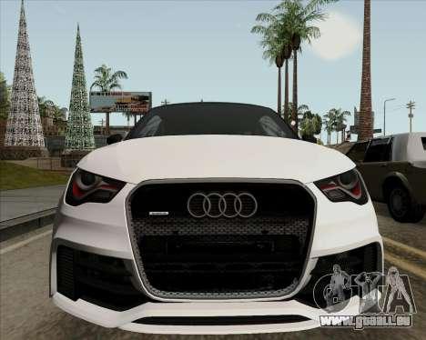 Audi A1 Clubsport Quattro pour GTA San Andreas vue intérieure