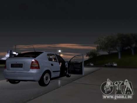 Opel Astra G pour GTA San Andreas vue intérieure