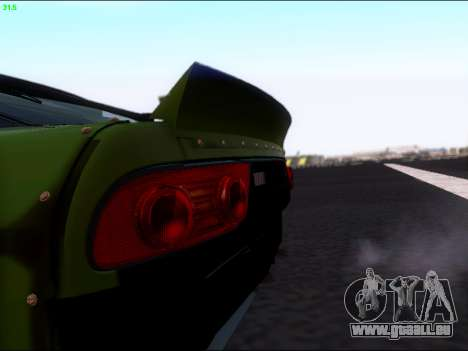 Nissan 180sx Takahiro Kiato für GTA San Andreas Rückansicht